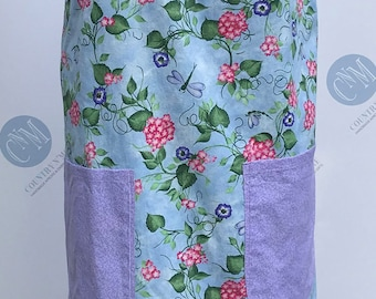 Dragonflies and Flowers Vintage Canning Apron (Medium)
