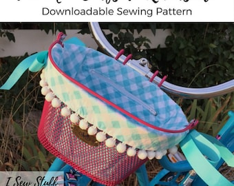 SEWING PATTERN The Mini Surfside Reversible Bike Basket Liner Digital Download