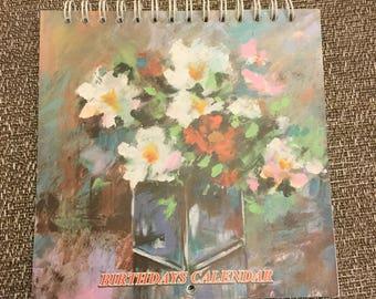 Reusable Acrylic and Oil Painting Birthday Calendar
