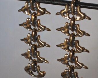 Five Drop Earrings -  Bronze