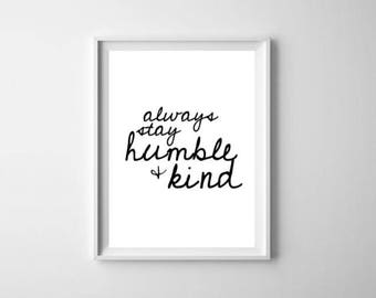Wall Art Print, Instant Download, Printable Art, Printable Quotes, Home Decor,Humble, Place, Printable Wall Art