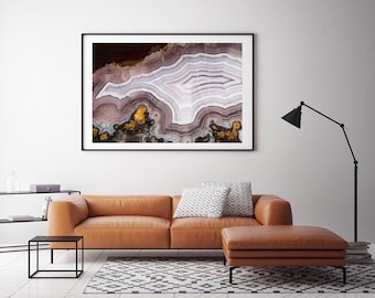 Mineral Photography - (Print #041)  Laguna Lace  -  Fine Art Print - Two Paper Choices- Mineral Geode Agate Crystal Decor