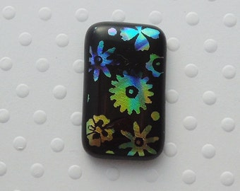Dichroic Fused Glass Cabochon - Gem Stone - Cabochon Cab - Bead Supply- Glass Bead - Wire  - Jew - Stained Glass 3623