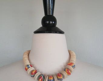Rainbow Jawbreaker necklace. Pride. 1970s/70s choker. Statement jewelry.