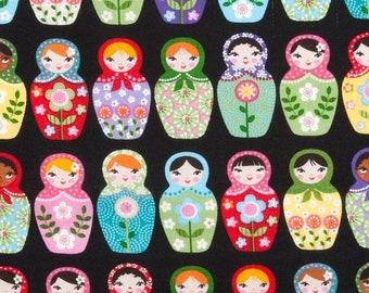 On SALE 75% OFF Russian Nesting Dolls - Matryoshka Nesting Dolls - Matryoshka Fabric - Cotton Fabric - Girl - Baby Fabric - Novelty - Nurser