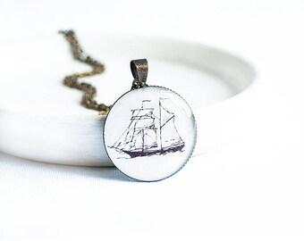 Nautical necklace, naval jewelry, ship necklace, marine jewelry