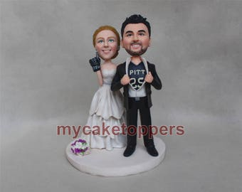 foam finger wedding Cake toppers, bride and groom cake topper, fan cake topper, foam finger customized fgurine