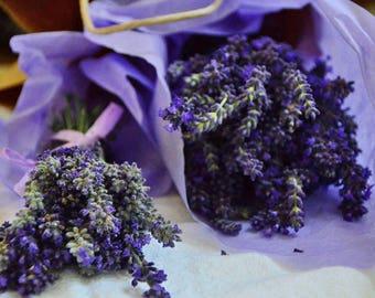 Lavender Bouquet | Dried Lavender | Lavender Bunch | Wedding Centerpiece | Bridesmaid Bouquet | Preserved Lavender | Farm Wedding Bouquet