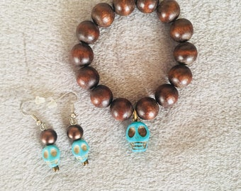 Sugar Skulls Bracelet and Earrings