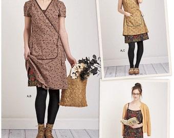 Sewing Pattern Women's Wrap Dress Pattern, Dottie Angel Slip Dress Pattern, Wrap Apron Dress Pattern, Simplicity Sewing Pattern 8186