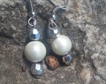 White and Silver Dangles