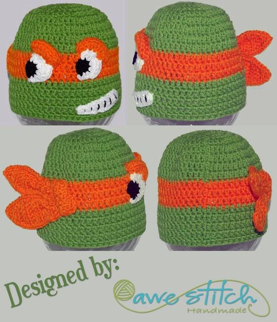 Un adolescente tortuga Crochet patrón instantánea descargar
