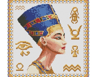 Cross Stitch Pattern Nefertiti counted embroidery