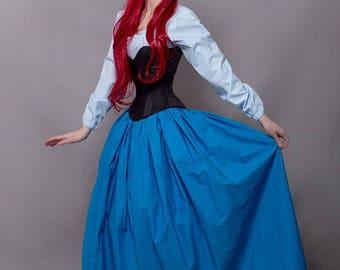 FREE SHIPPING  Little Mermaid Princess Ariel  cosplay costume  + GIFT