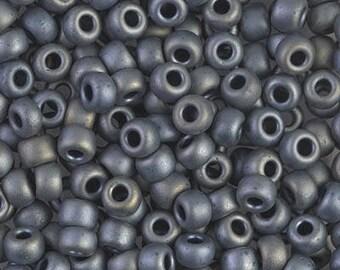 6/0 Miyuki Matte Metallic Silver Gray Seed Beads - 15 grams - 2828 - Miyuki 6-2002 Matte Metallic Gray Seed Beads