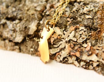 California Necklace, Available in Sterling Silver and Bronze and Gold Filled