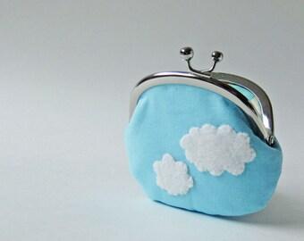 Blue sky coin purse