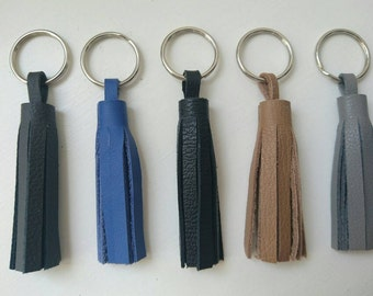 Real Leather Tassle Keyring