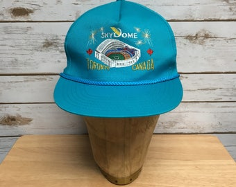 Vintage 80 s 90 s Skydome Toronto Canada Teal Snapback hat Toronto Blue  Jays Baseball hat snapback cap baseball cap teal df0cc61f432e
