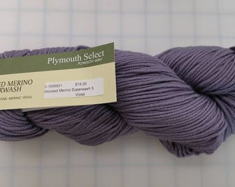 Plymouth Select Yarn - Worsted Merino Superwash - color #34 Violet