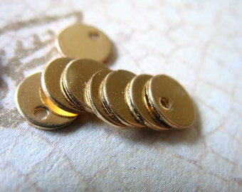 14k Gold Filled Stamping Blanks Discs Bulk / 2-100 pcs, 24 ga, 6 mm / Petite Tiny Rounds, custom personalize stamping blank6 v2 solo yg