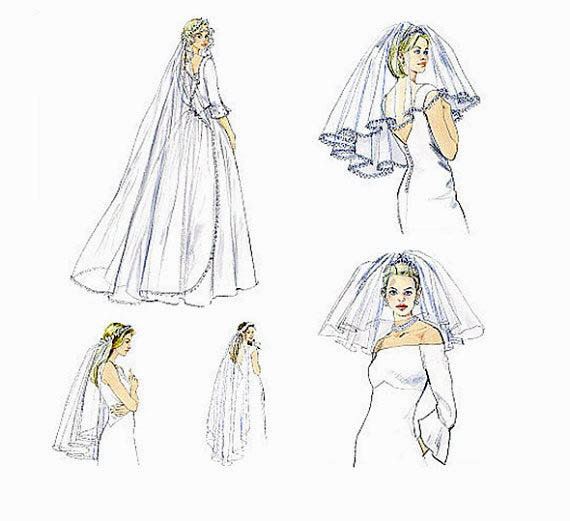 Veil Sewing Pattern Choice Image - origami instructions easy for kids