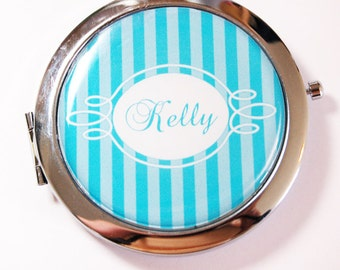 Custom compact mirror, personalized, compact mirror, bridesmaids gift, wedding party gift, personalized mirror, personalized gift (2608)