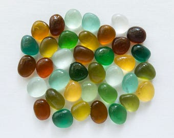 English Sea glass - Autumn / Fall - Lot DC1189