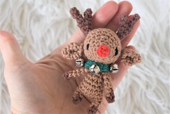 Rudolph the Tiny Reindeer Crochet Pattern / Amigurumi / Photo