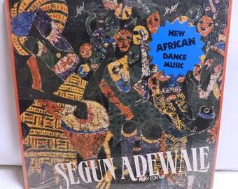Segun Adewale Play for me - Vintage Vinyl Record Album lp Reggae Music 1984 Rounder 5015 EX/EXC