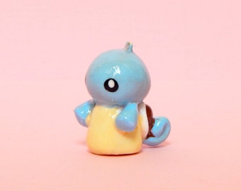 Squirtle Charm - Polymer Clay Squirtle - Pokemon Charm - Pokemon Keychain - Squirtle Keychain - Kawaii Polymer Clay - Cute Pokemon Charm