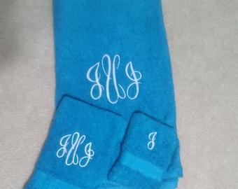 Custom Monogramed  Bath Towels