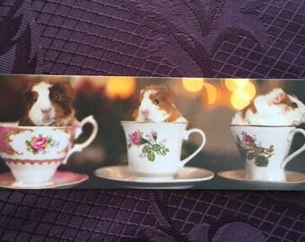 3 Cups of Tea Guinea Pig Bookmark