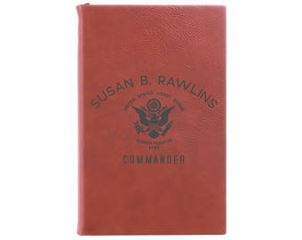 Coast Guard Journal, Personalized Journal, Notebook, US Coast Guard, Leather Journal, Leather Notebook, Military Gift  --28333-LJ05-041