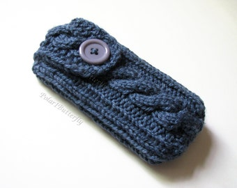Pax Vaporizer Cover,  Ploom Pax 2 Pax 3 Case, Mobile Phone HTC Droid Cosmos 2 Nexus 5 Xperia Z iPhone 4 5 6 iPod Cozy Hand Knit in Denim