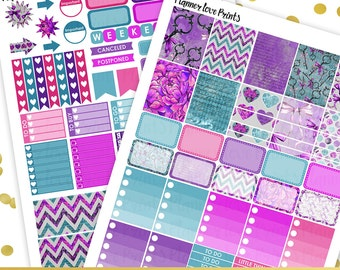 50%off LAVENDER  Printable Planner Stickers | Instant Download | Pdf and Jpg Format