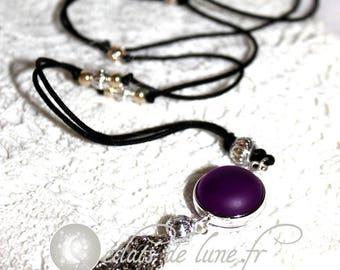 Bola grossesseTintement Bell velvet touch purple beads