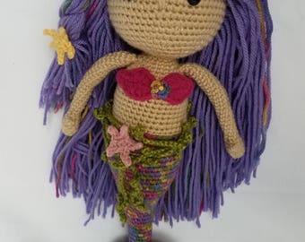 Marina the Mermaid - Crochet Doll, Amigurumi, Fantasy