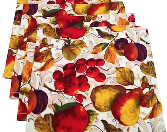 Thanksgiving Napkins, Fall Napkins, Fruit Napkins