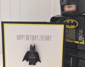 Batman birthday card etsy personalised batman birthday card blkyellow bookmarktalkfo Choice Image