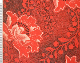 Shweshwe - South African Cotton - Red Sky At Night- Red and Black.