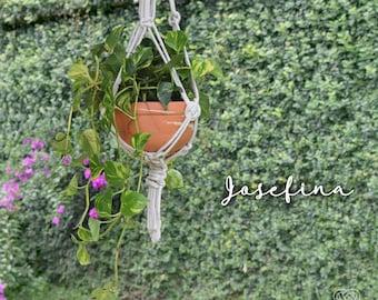 Josefina macrame plant hanger, wall hanger, wall decor, pot
