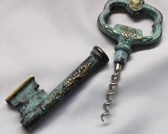 Vintage French corkscrew disguised as a key