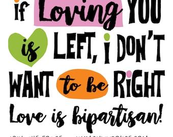 Si t'aimer est à gauche, je ne veux pas être aimant droit droits de l'homme