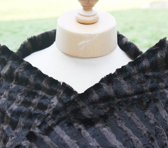 FAUX FUR Limited edition top quality vintage faux fur fabric - 1 piece in brown with dark stripes
