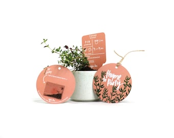 Thyme Gift Tag with Seeds