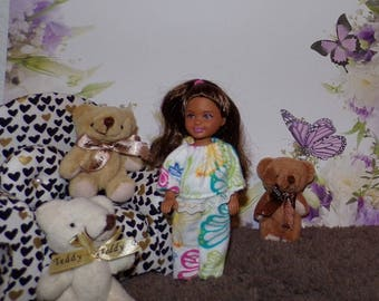 CHLSEPJ1--84-87) CHELSEA doll clothes, 2 flannel pajama sets to choose from