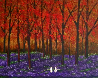 Jack Russell Terrier Dog print by Todd Young AUTUMN FOREST