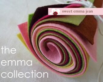 9x12 Wool Felt Sheets - The Emma Collection - 8 Sheets of Felt