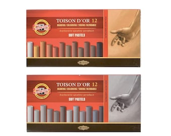 Dry soft pastels grey brown art Toison D Or 8522 for artist drawing new Koh I Noor Hardtmuth